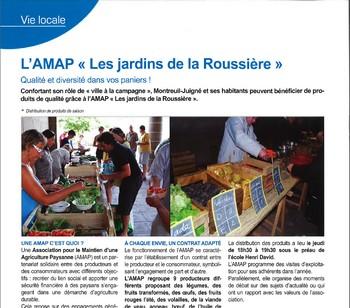 Journal Municipal : Article AMAP Les jardins de la Roussière