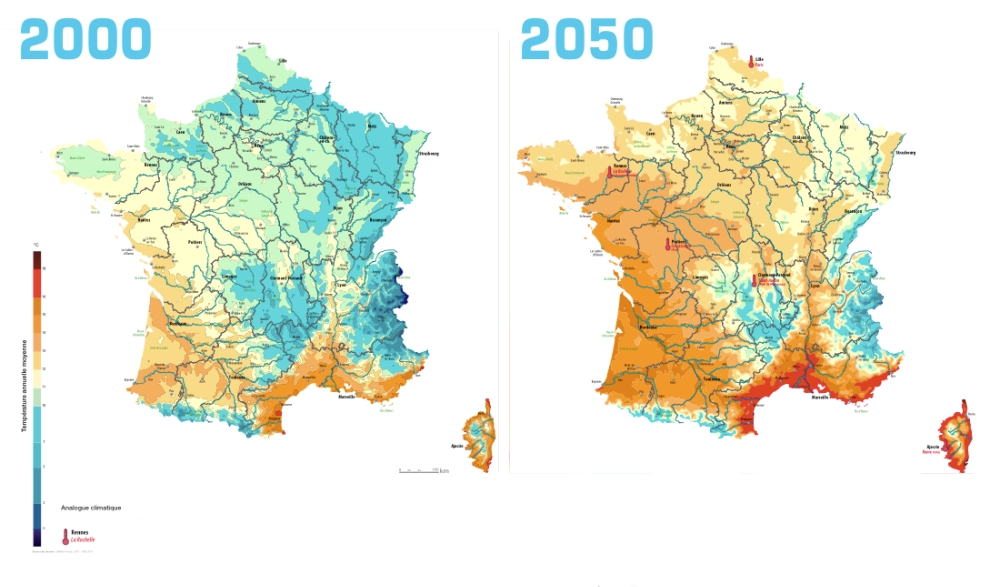 carte de france 2050